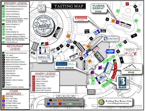 2021 Taste of Redding Map